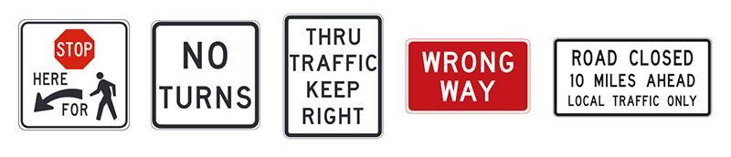 znaki drogowe w usa