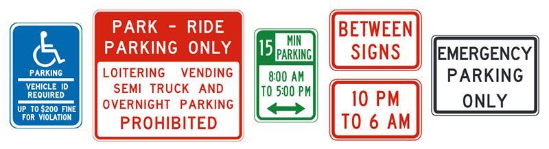 znaki parkowania w usa